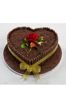 Chocolate Heart Shape Cake II